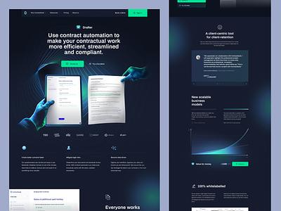 Drafter - Contractbook contractbook branding design landing page layout www website web ui