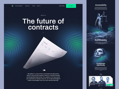 About us - Contractbook contractbook branding design illustration landing page layout www website web ui