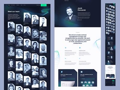 Meet our team - Contractbook contractbook branding design landing page layout www website web ui