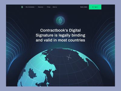 Digital Signatures - Contractbook animation motion design motion graphics contractbook branding design illustration landing page layout www website web ui