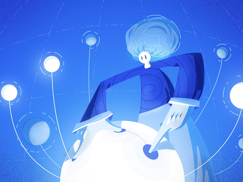 Idea Incubator 💡 incubator connection technology character illustration