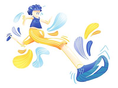 Running Illustration 🏃 graphic noise runner running illustration person character