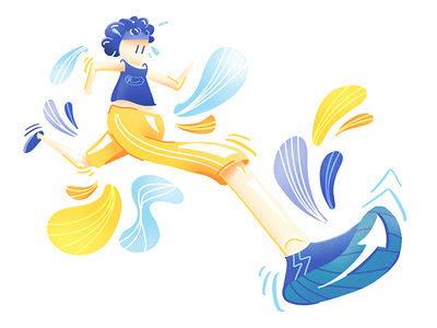 Running Illustration 🏃 graphic noise runner running illustration person character