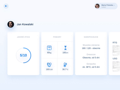 Medical Clinic iPad App application app concept app hospital ipad after effects ux ui interaction animation