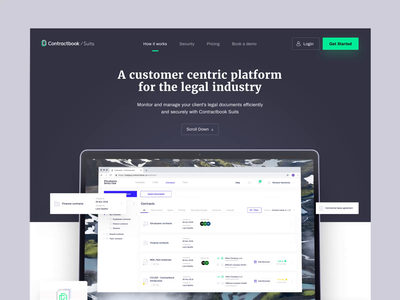 Contractbook Suits - How it Works interaction animation design contractbook ui layout landing page website web www