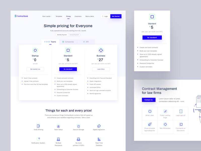 Contractbook Pricing