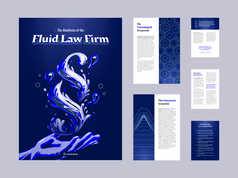 Fluid Law Firm e-book - Contractbook contractbook publication ebook cover ebook document typography vector design layout illustration