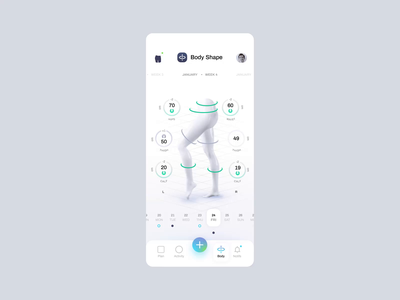 Kulture Athletics - Measure product tonik minimal workout app fitness interaction animation design kulture application app mobile ux ui