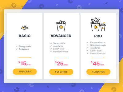 CRM subscription page crm design saas design saas subscription pricing crm