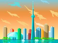 Toronto City Illustration