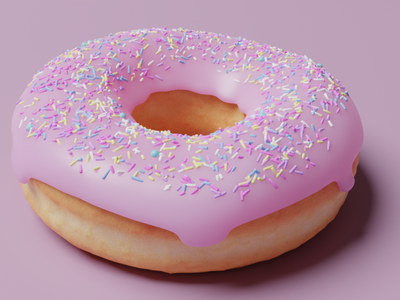 Donut 3D design blender donut 3d