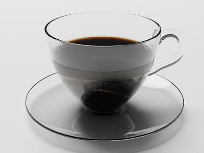 3D Coffee Cup blender coffee 3d