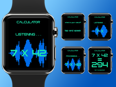 Daily Ui #4 - Calculator 004 ui calculator apple watch smartwatch dailyui