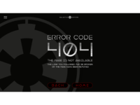 Daily UI #8 - 404 Error