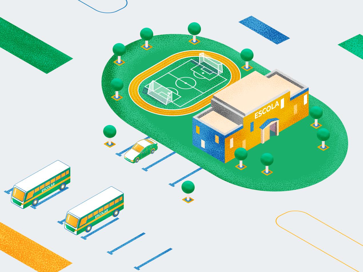 school vector city design motion car illustration abstact flat illustration charactedesign animation 2d animation art school