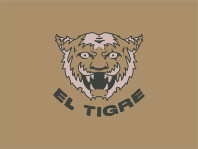 El Tigre type typography tiger mascot tiger king illustration el tigre tiger