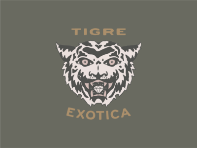 Tigre Exotica diamond hand drawn tiger camo camo pattern tiger logo tiger mascot tiger king tigre exotica tigre illustration tiger