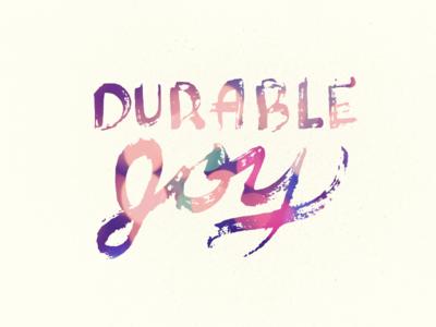 Durable Joy Hand Drawn Type
