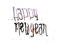 Happy New Year Hand Drawn Type