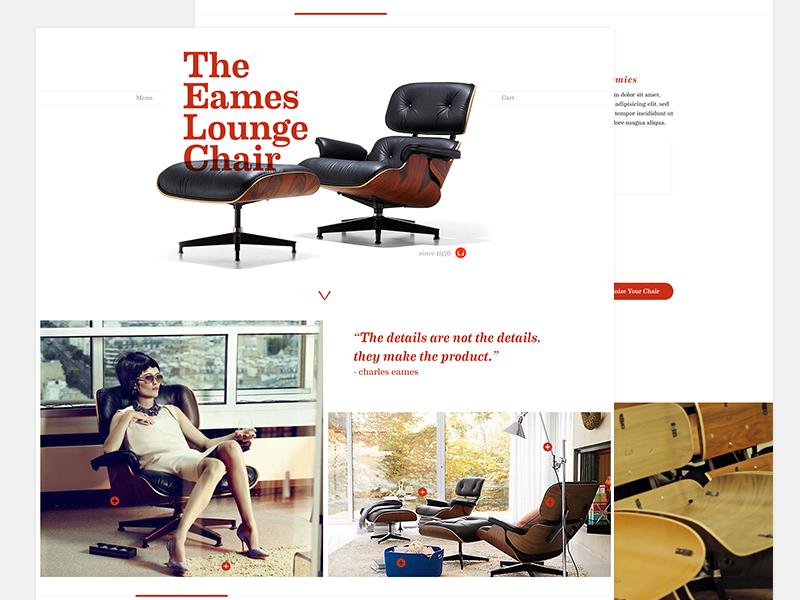 Eames Lounge Chair Web web design web ui ui design
