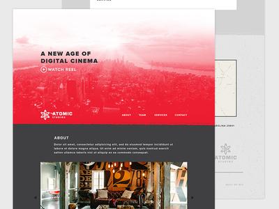 Atomic Studios Web Concept