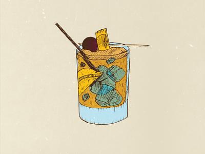 Old Fashioned Illustration illustration old fashioned wierstewart cocktail