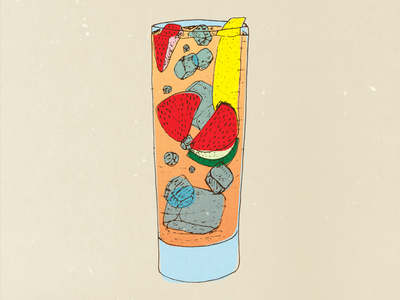 Vodka Lemonade Illustration