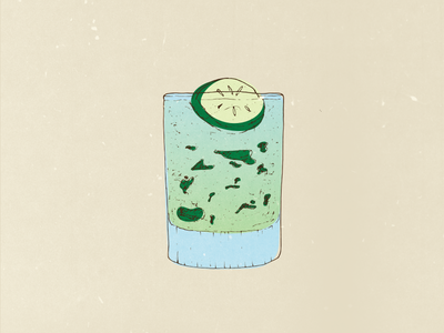Cool As A Cucumber Illustration