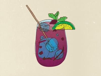 Berry Lime Drank Illustration