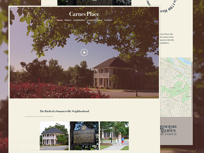 Carnes Place Web wierstewart loop video design wordpress web site ui ux web design web