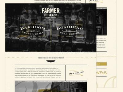 Wm Farmer & Sons Web Design