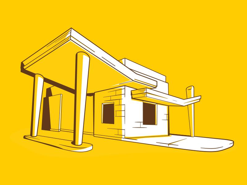 Building Illustration wierstewart web design web design branding building illustration