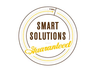 Smart Solutions Lockup wierstewart branding design web design web badge typography type