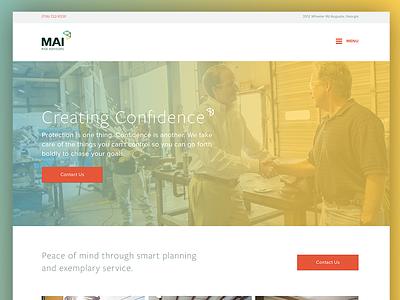 MAI - Web Design wierstewart identity branding web design web