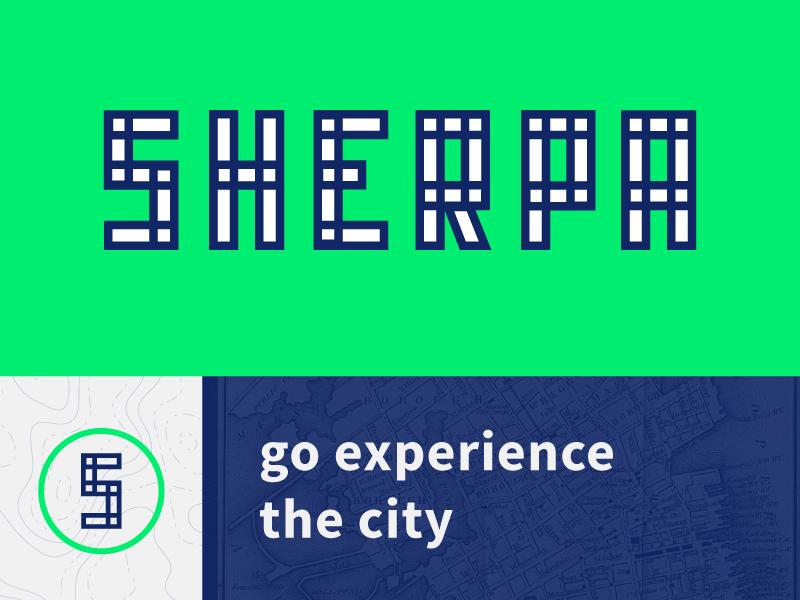 Sherpa color logo branding type typography