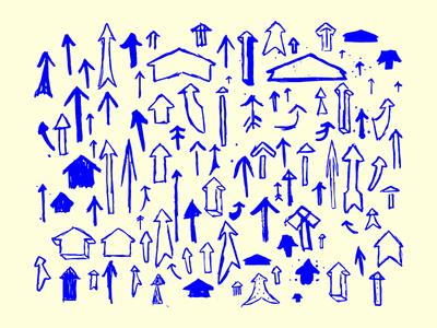 100 Hand Drawn Vector Arrows