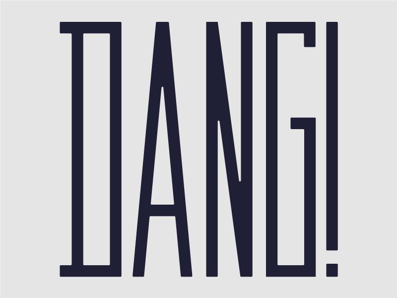 Dang Type 5 typography type sans serif dang