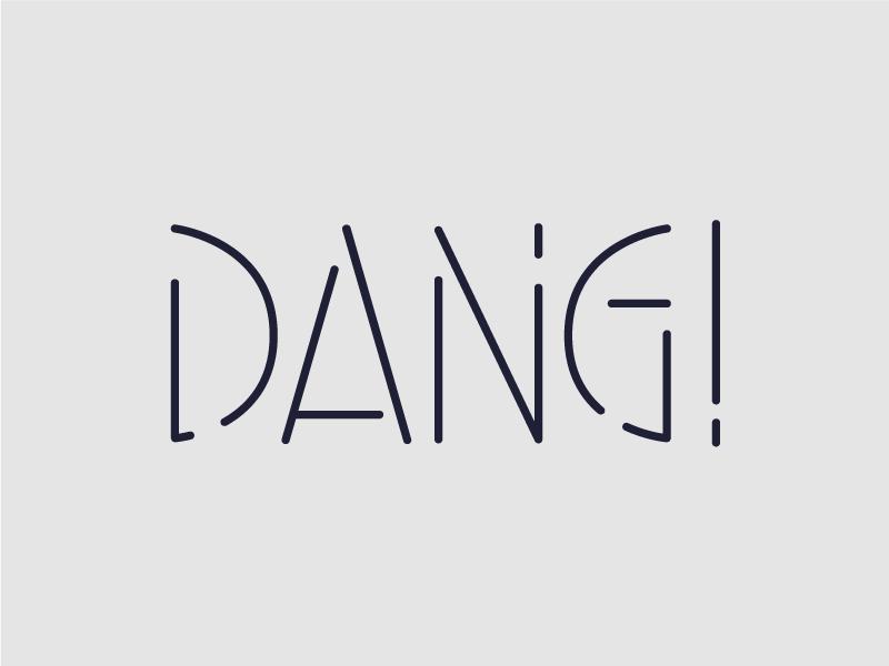 Dang Type 11 custom typography sans serif stencil type typography type dang