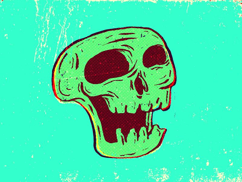 31 Days of Skulls 31 days of skulls illustration skull