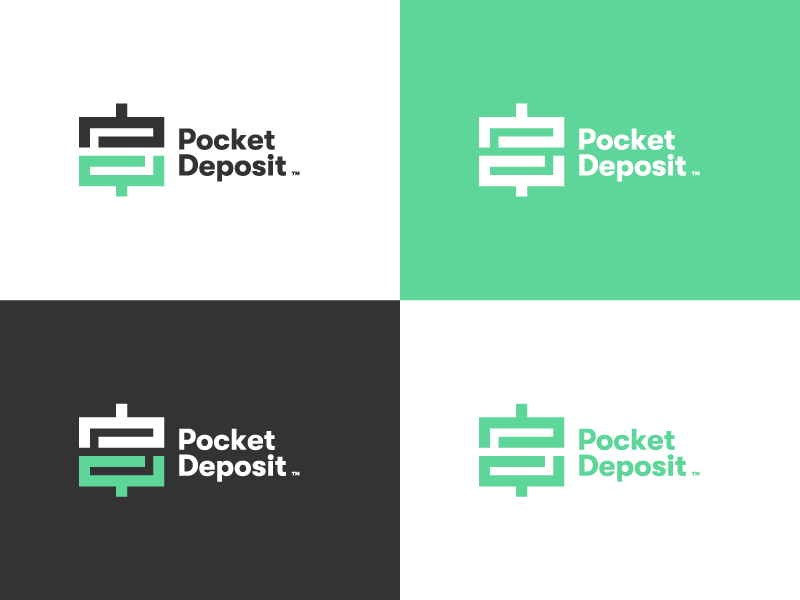 Pocket Deposit 03 pocket deposit design deposit money cash branding brand logo