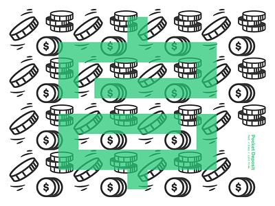 Pocket Deposit 06 pocket deposit design deposit money cash branding brand logo pattern