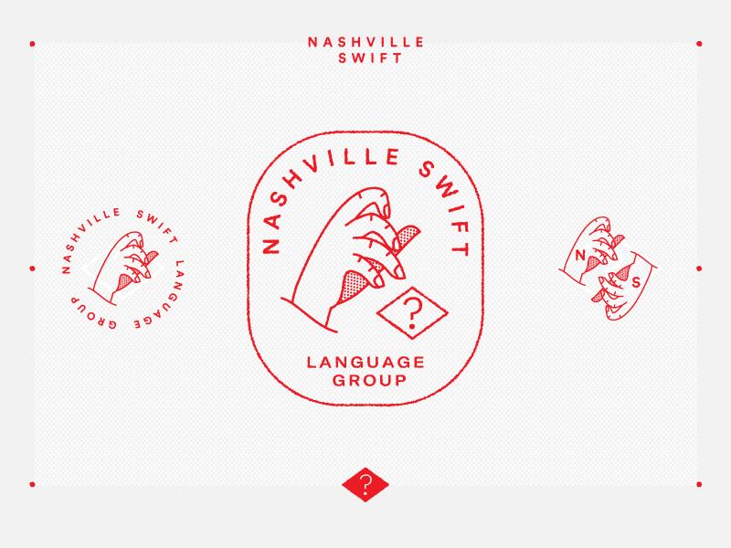 Nashville Swift 01 meetup ios swift brand illustration logo hand