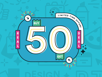 Fifty Fifty 01 real deal 50 flyer artwork real thread brand design flyer illustration