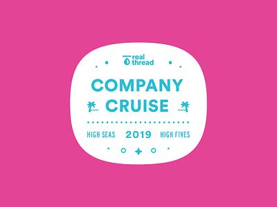 Company Cruise Badge 01 badge logo cruise badge real thread badge