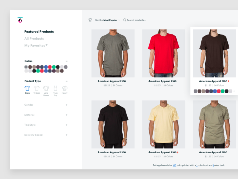 New Products Page interface web flat design desktop products page ecommerce product grid ui  ux ux ui web design
