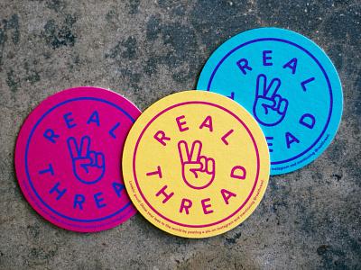 Coasters 01 brand design graphic design real thread coasters design