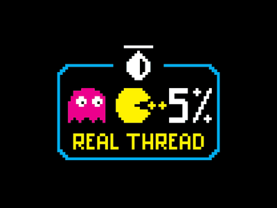 Real Thread Pacman Shirt brand design brand tshirt art pixel pixel art 8bit pacman real thread graphic design design tshirt tshirt design
