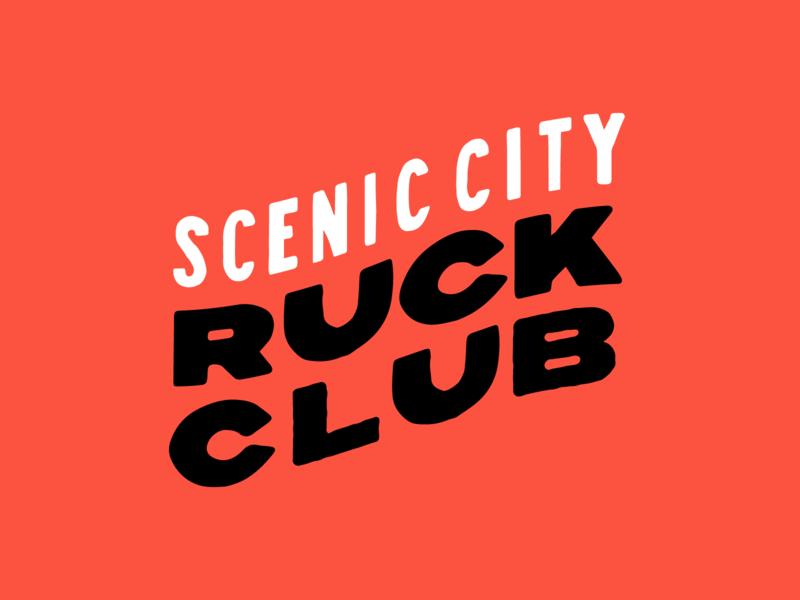 Scenic City Ruckers Type 01 hand drawn type handlettering goruck illustration ruck club rucker ruck branding brand hand drawn typography type