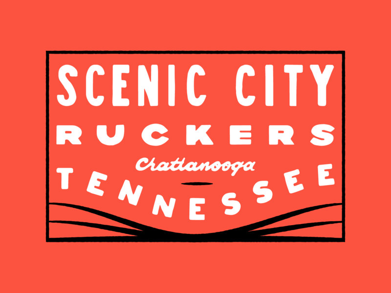 Scenic City Ruckers Patch 02 brand design branding brand hand drawn typography handlettering goruck ruck patch rucking ruck club ruck chattanooga hand drawn type patch illustration type typography