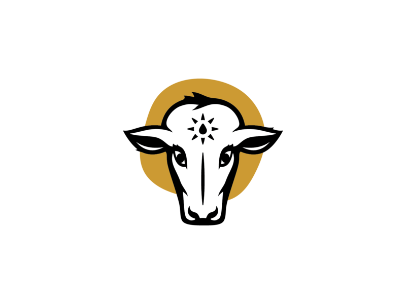 Sacred Cow 02 vector symbol mark logo illustration identity design design cow illustration cow brand identity brand identity design branding brand design brand